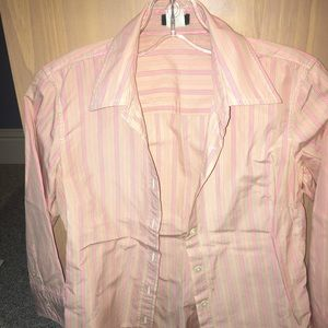 J. Crew striped cotton dress shirt